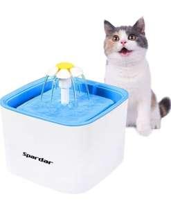 Fuente de agua para gatos con filtro y 2'5 litros de capacidad