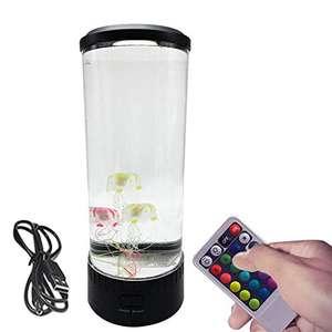 Lámpara de medusas regulable con control remoto. 6 colores de luz