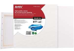 3pcs Paneles de Lienzo para Pintar PREMIUM 100% Algodón Paneles Imprimados SIN Ácidos 20x20x1.5cm