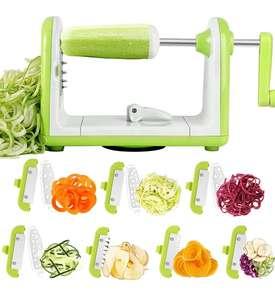 Espiralizador de Vegetales con 7 Cuchillas,