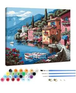 Mini recoo:Kits de Pintura por números,con Pinceles y Pigmento acrílico(50%)