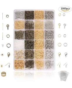 Kit de Pulsera Bronces,DIY Fabricación de Materiale de Joyeria para Hacer Bisuteria (3000 Pcs)