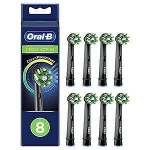 8 Cabezales de Recambio Oral-B CrossAction Negros