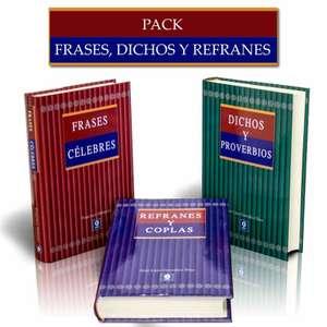 PACK FRASES CÉLEBRES, DICHOS Y REFRANES. 3 LIBROS