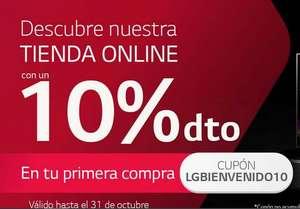 10% de descuento y envío gratis en tienda online LG