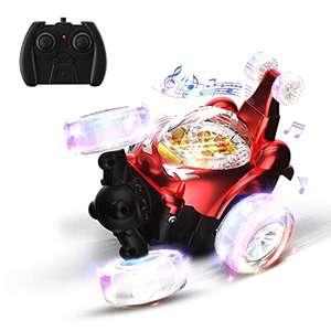 Coche Teledirigido, 2.4 GHz RC Coche Acrobacia Rotación Volteo de 360 Grados, con Batería Recargable, Regalo para niños