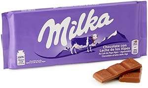 Chocolate con leche de los Alpes Milka 125 g