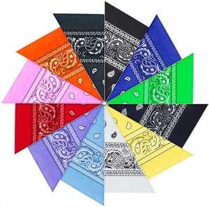 12pcs Pañuelos Bandanas,Multicolor bandanas con estampado para Cabeza y Cuello