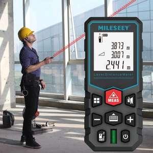 Medidor digital de distancia láser, telémetro eléctrico láser con precisión de + -2mm (Envío desde España)