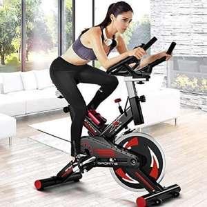 FIT-FORCE Bici Spinning con Volante de inercia de 24kg Negro, pantalla LCD (desde España)