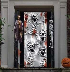 Cubierta de Puerta de Esqueleto Aterrador 76 x 182cm