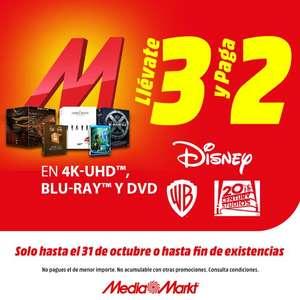 3x2 en películas en Mediamarkt