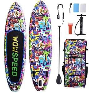 Tabla de Paddle Surf Pintada a Mano (320 x 83 x 15 cm)