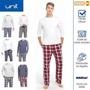 Conjunto pijama de hombre para invierno (pantalón y camiseta de algodón de manga larga para dormir). 7 colores a elegir - Unit (ECI)