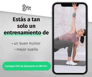 Suscripción anual a 8fit PRO a mitad de precio (app de fitness)