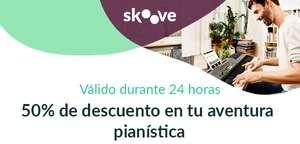 1 año de Skoove Premium a mitad de precio (aprende a tocar el piano)