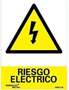 Señal Riesgo Eléctrico PVC Glasspack 0.7 mm 21x30 cm,
