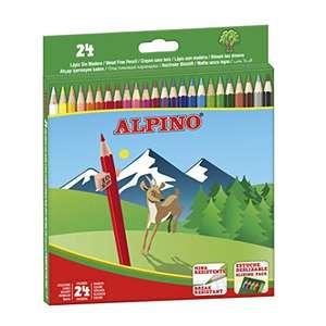 Lapices de Colores de madera Alpino estuche 24 unidades