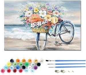 Pintura al óleo por números, sin Marco Impreso Lienzo, Arte Decoración del hogar 30 × 40 cm, cupón 50%, varios modelos desde 4,50€