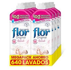 Flor Original Delicado, Apto para pieles sensibles - Pack De 8, 640 Dosis
