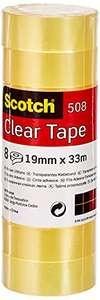 Scotch Cinta Adhesiva Transparente - 8 rollos - 19mm x 33m
