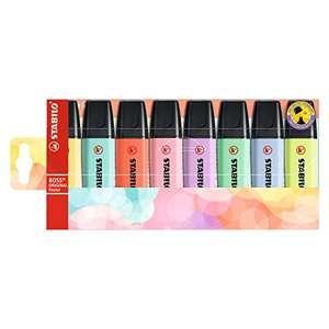 Marcador STABILO BOSS ORIGINAL Pastel - Estuche con 8 colores pastel