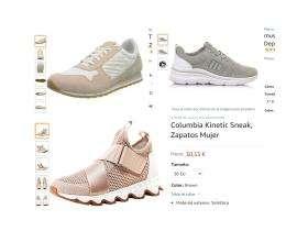 Zapatillas mujer tallas seleccionadas. Columbia , Mustang y Timberland .