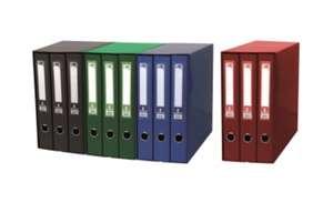 Módulo Liderpapel con 3 archivadores con folio de 2 anillas,disponible en colores azul, negro y rojo