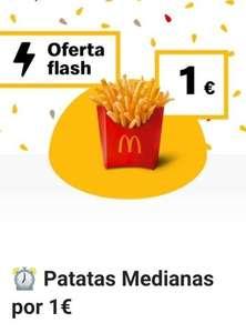 Patatas fritas medianas a 1€