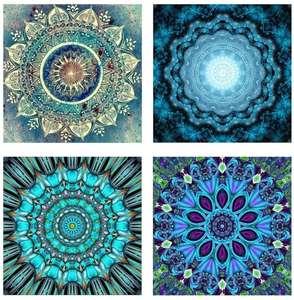 Mandala 25x25 color azulado