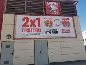 2x1 Chick&Share 12 alitas picantes o 9 tiras de pollo solo en KFC Auto - Alfafar (Valencia)