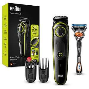 Braun Recortadora de Barba con Gillette Fusion 5 ProGlide Maquinilla de Afeitar Hombre, 2 Cabezales y 39 Ajustes de Longitud