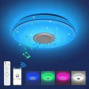 Plafón LED de Techo 24W, Musical RGB Regulable