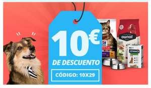 10€ de descuento en compras superiores a 29€ en Petsonic