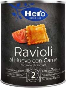 Hero Platos Preparados Ravioli al Huevo con Carne - Pack de 6x420 g