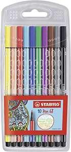 Rotulador STABILO Pen 68 - Estuche con 10 colores