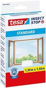 TESA MOSQUITERA STANDARD para Ventanas Autoadhesiva , Recortable, Blanca, 130 cm x 150 cm