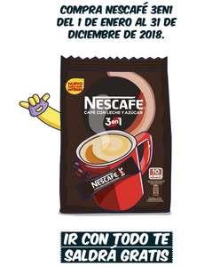 Nescafé 3en1 gratis (Reembolso) + ¡2x1 50%!