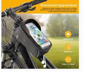 Bolsa Táctil de cuadro bicicleta impermeable con Orificio para Auriculares