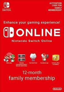 Nintendo Switch Online Suscripción Familiar - 12 meses por 23,50€ billetera Eneba o 25,45€ Paypal