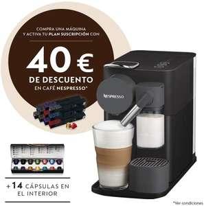 De'Longhi Nespresso Lattissima One EN500B - Cafetera monodosis de cápsulas con depósito de leche compacto, 19 bares, color negro