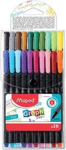 "Pack de 20 rotuladores punta fina Maped ""Graph'Peps"" Multicolor"