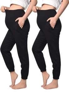 2 PCS Pantalones Casuales de Maternidad Elásticos
