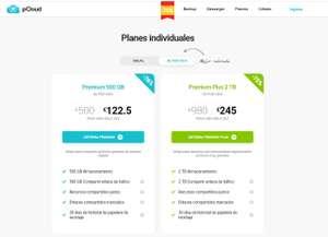pCloud 500GB por 122.5€ o 2TB por 245€ (de por vida)