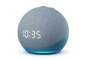 Altavoz inteligente con Alexa - Amazon Echo Dot (4ª Gen) con Reloj, Controlador de Hogar