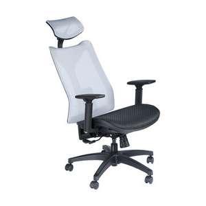 BlitzWolf Silla de oficina con malla, soporte lumbar e inclinación + mecedora (Desde Polonia)