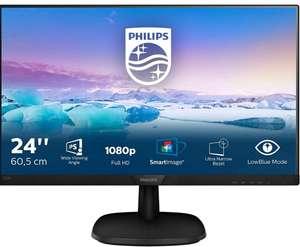 "PHILIPS Monitor PC 60,5 cm (23,8"") Philips 243V7QDSB/00, 75 Hz, Full HD IPS, Flicker Free [También Carrefour]"