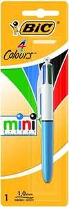 BIC 4 colores Mini Bolígrafo Retráctil punta media (1,0 mm) – Blíster de 1 Unidad