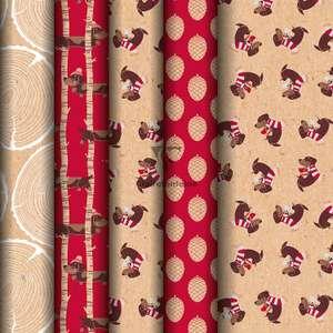 Pack 20 Rollos Papel de Regalo Clairefontaine | 5m x 0,35m | 100 Metros