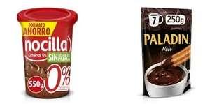 5€ de descuento por cada 18€ en nocilla original y Paladín Noir